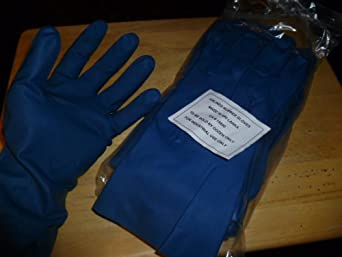 """12 NEW PAIR MENS SIZE 9 LARGE UNLINED RUBBER GLOVES 12"""""""