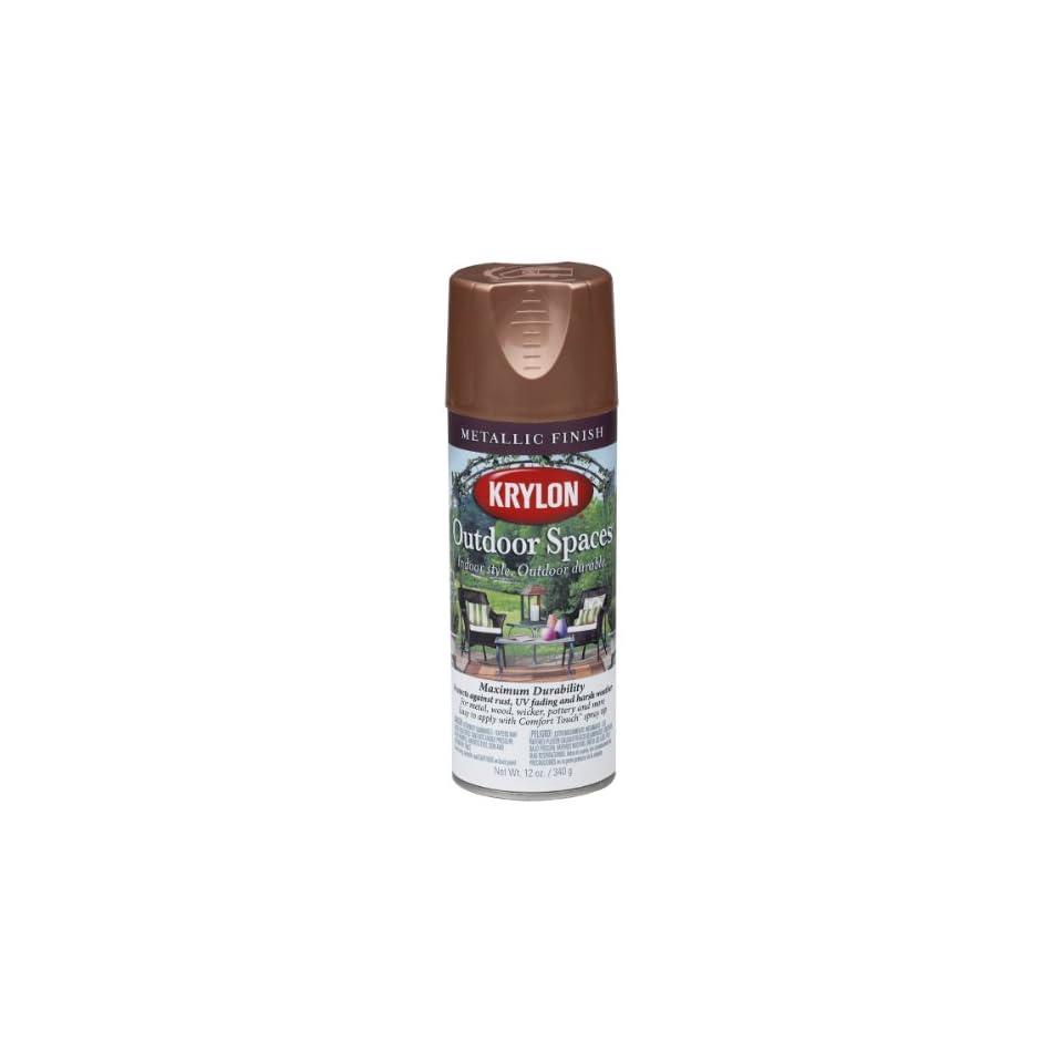 Krylon K02908000 Outdoor Spaces Metallic Finish Aerosol Spray Paint, 11 Ounce, Copper