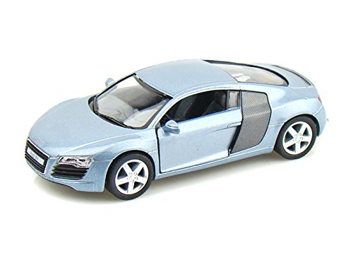Audi R8 1/36 Silver-Blue