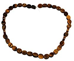 8x10mm Honey Brown Marble Oval Bead Strand (39 Piece)