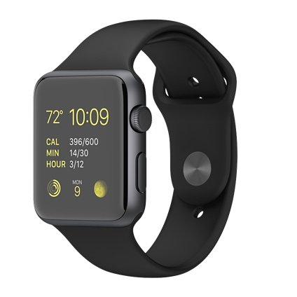 Apple WATCH SPORT 42mm - SpaceGrey - Sportarmband Black