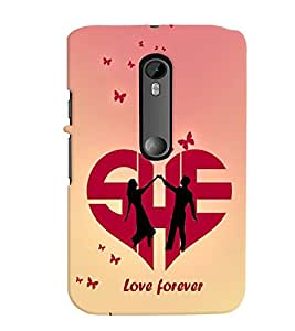printtech Love Forever Quote Back Case Cover for Motorola Moto G3::Motorola Moto G (3rd Gen)