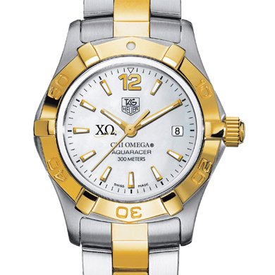Chi Omega Women's TAG Heuer Two-Tone Aquaracer (Chi Omega Watch compare prices)