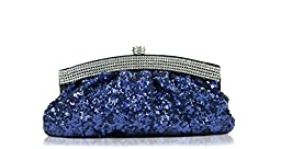Scarleton Satin Soft Frame Clutch H300607 - Blue
