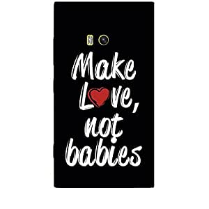 Skin4gadgets MAKE LOVE NOT BABIES Phone Skin for NOKIA LUMIA 920