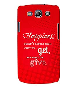 ColourCraft Quotes Back Case Cover for SAMSUNG GALAXY S3 I9300