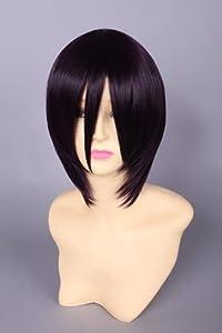 CosplayerWorld Cosplay Wig Black Purple 34cm 13.5 inch Cosplay Wig Fashion Girls and Boys Anime Wig Party Wig Shipping Free