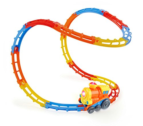 SainSmart-Jr-Tumble-Track-Train-Play-Set-with-Lights-and-Sound-Roller-Coaster-Rails-Sucker-Included-23-Pieces