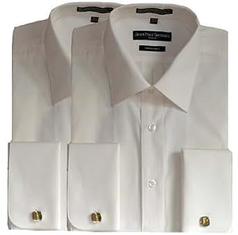 Pack Of 2 Bone French Cuff Dress Shirts Cufflinks