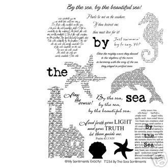 By the Sea Sentiments Clear Unmounted Rubber Stamp Set (TT234)