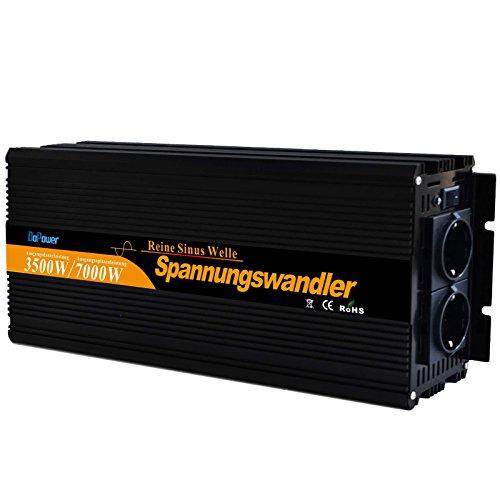 Power inverter pur sinus 3500w convertisseur onduleur 12V à 220V onde sinusoïdale pure