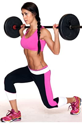 Lino Fitness Women Sports Wear Color Blocking Capri Legging