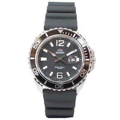 ORIENT Uhr Deep Quarz Herrenuhr schwarz Datum Neues Modell Kautschuk FUNE3004B0