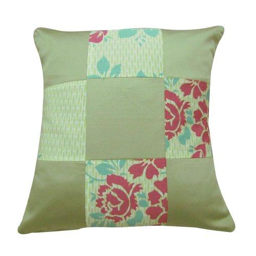 1 pezzo decorazioni per la casa in seta miscela cuscino patchwork grigio divano decorativo federa india 16