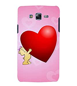 printtech Love Heart Teddy Bear Back Case Cover for Samsung Galaxy J1 / Samsung Galaxy J1 J100F