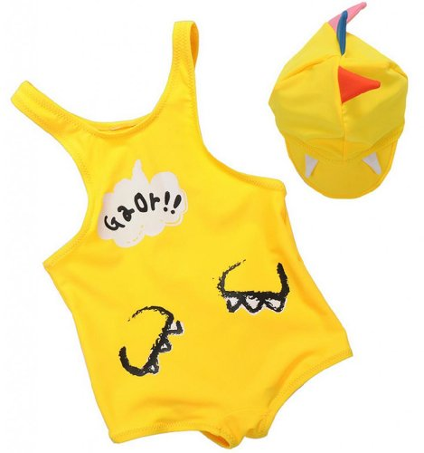 Baby Girl's Dinosaur Shape One Piece Swimsuit