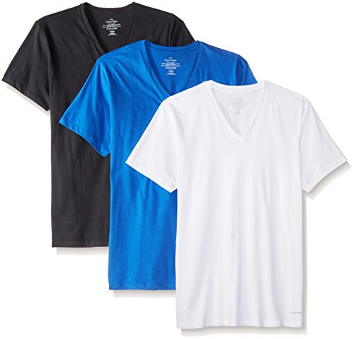 Calvin Klein Men's 3 Pack Cotton Classic Short Sleeve VNeck TShirt