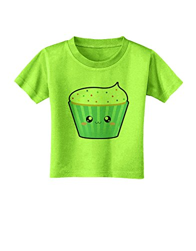 Tooloud Cute Cupcake With Sprinkles Toddler T-Shirt - Lime Green - 2T