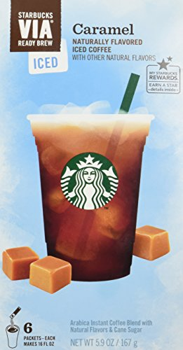 Starbucks VIA Ready Brew Iced Caramel Coffee (3 Pack/Boxes) 6 Packets Each Box (Iced Via Coffee Starbucks compare prices)