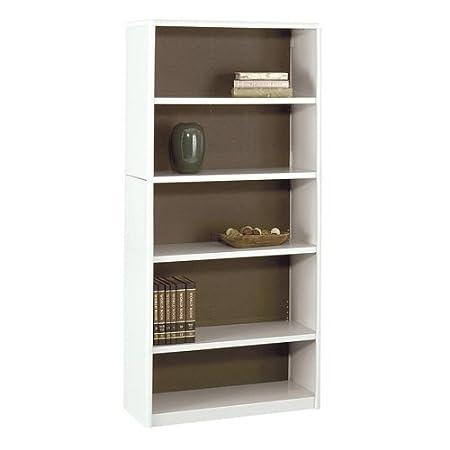 """Safco Value Mate Bookcase - 32"""" x 13.5"""" x 67"""" - Steel, Fiberboard, Plastic - 5 x Shelf(ves) - Gray"""