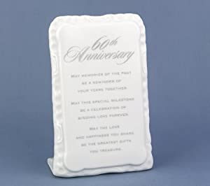Anniversary Items 60th Anniversary Plaque (pack Of 1)