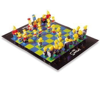 The Simpsons 3D Chess Set by The Really Useful Games Company