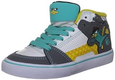 etnies Disney RVM Vulcanized Skate Shoe (Infant/Toddler/Litle Kid/Big Kid),White/Grey/Blue,1.5 D US Infant