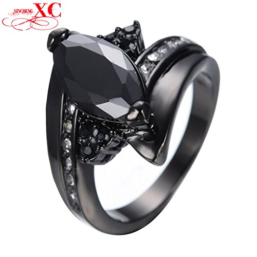 AYT Size 6/7/8/9/10/ Black Gold Filled Horse Eye Ring Anel Anies Wedding Engagement Ring For Women Bridal Bohemian Anel Anies 7.0