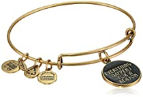 """Alex and Ani Words are Powerful """"Everything Happens For A Reason"""" Rafaelian Gold Finish Bangle Bracelet"""