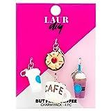 LaurDIY 37600019 First Coffee Charm Pack, Multi