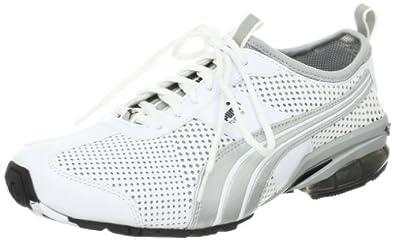 PUMA Women's Cell Turin 3 BT Running Shoe,White/Puma Silver/Black,11 B US