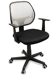 "The ""Distrikt"" Computer Task Mesh Ergonomic Office Chair with Rubber Anti-Scuff Wheels (White)"