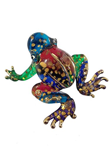 TINY CRYSTAL FROG HAND BLOWN CLEAR GLASS ART FROG FIGURINE ANIMALS COLLECTION GLASS BLOWN (Frog Crystal compare prices)