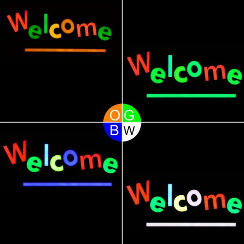 Neon Store Display Board: 12V Led Animated Flashing Rgb Welcome