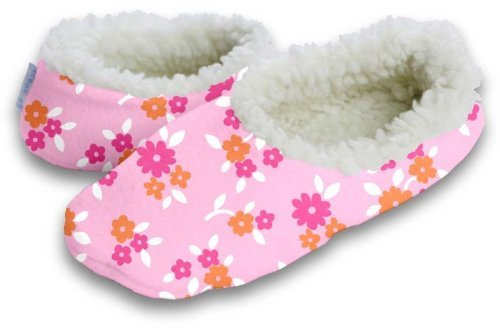 Cheap Snoozies Pink Ditsy Bouquet Slipper Size Medium (B007H9SE00)