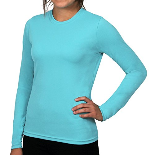 Women's Versa-T Long Sleeved Sun Protective UPF 50+ T-Shirt by Nozone in Curacao, Small (Canada Longsleeved Shirt compare prices)