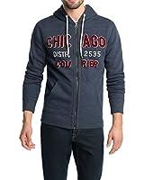 ESPRIT Herren Sweatshirt Jacke mit Kapuze und Print