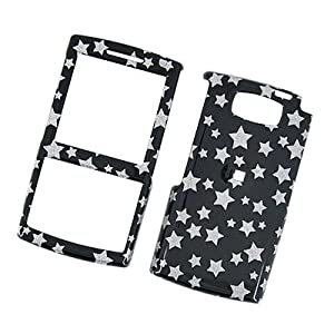 Samsung Epix SGH-i907 AT&T Snap On Protector Hard Case Image Cover Glitter Stars Black