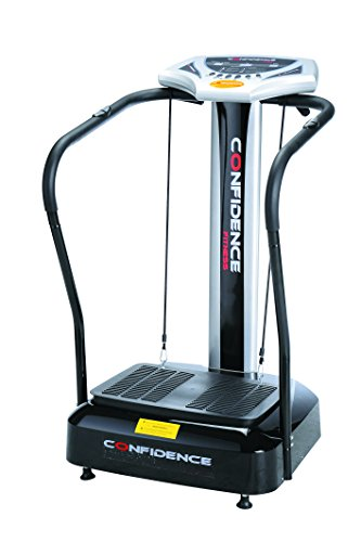 Cheapest Price! Confidence Fitness Slim Full Body Vibration Platform Fitness Machine, Black