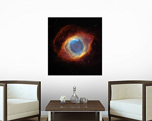 Helix Nebula Wall Decal - 42 Inches H X 39 Inches W - Peel And Stick Removable Graphic