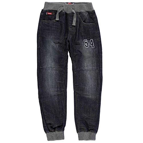 Lee Cooper Ragazzi Number Jeans Denim Pantaloni Casual Dark Wash 9-10 (MB)