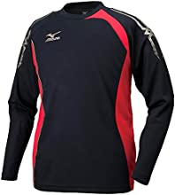 (ミズノ)MIZUNO(ミズノ) クロスティックウェア 長袖Tシャツ[メンズ] 32JA5530 96 ブラック×チャイニーズレッド L