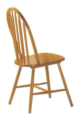 ACME 02482OAK Set of 4 Farmhouse Arrow Back Windsor Side Chair, Oak Finish (Windsor Side Chair compare prices)