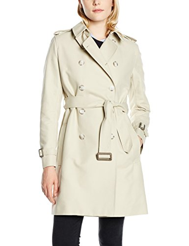 French Connection Freeway Cotton LS Belted Coat, Giubbotto Donna, Beige (Silver Stone), 40