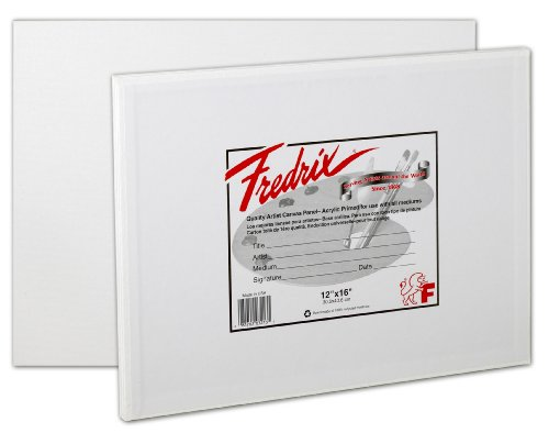 Fredrix 3204 Fredrix Canvas Panels, 5 by 7-Inch, 3-Pack