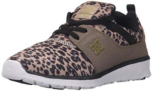 DC Women's Heathrow SE Skate Shoe, Leopard Print, 5 M US