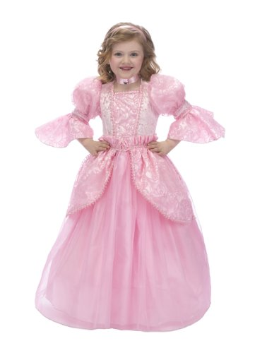 Just Pretend Kids Pink Princess Costume with Hoop and Choker, Medium