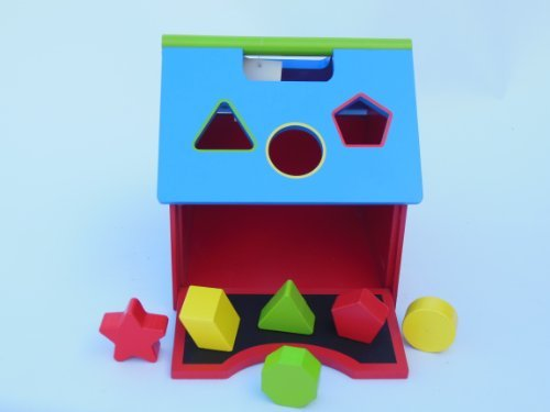 Schoolhouse Activity Shape Sorter, Chalkboard and Clock