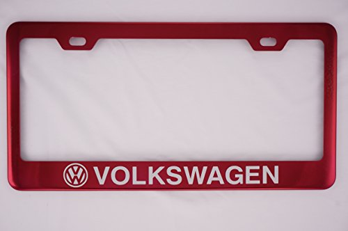 Volkswagen Red License Plate Frame (Candy License Plate Frame compare prices)