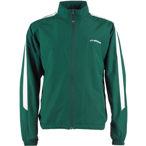 Brooks Mens Team Podium Running Jacket Forest